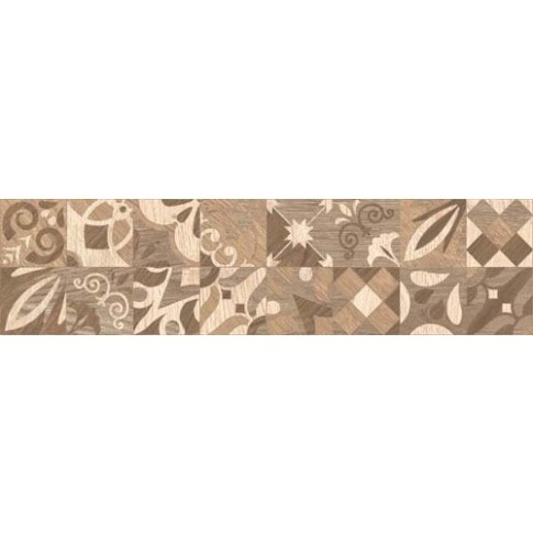 Гранитогрес Алпино декор кафяв 15.5/60.5 8 мм. 6050, КАИ 2