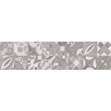 Гранитогрес Алпино декор сив 15.5/60.5 8 мм. 6055, КАИ